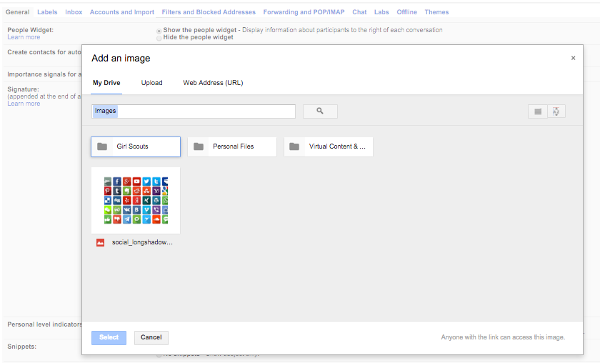 how to add social media buttons to email signature